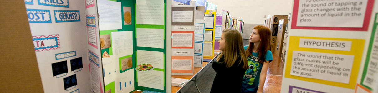 The Piedmont Regional Science Fair is held each year on the USC Upstate campus.