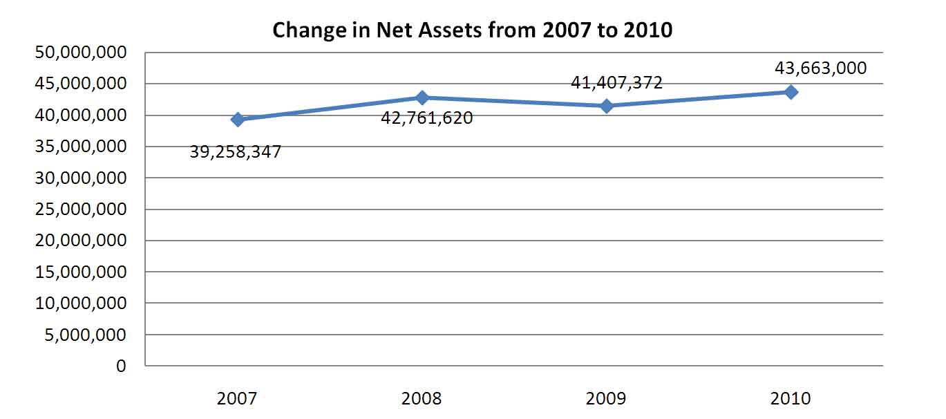 Change in Net Assets from 2007 to 2010