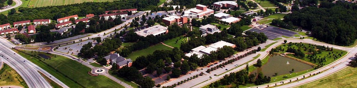 Aerial view of USC Upstate.