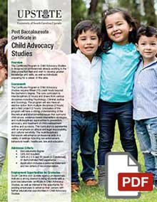 Child Advocacy Studies Graduate Certificate at USC Upstate
