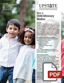Minor in Child Advocacy Studies at USC Upstate
