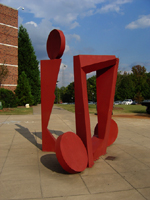 Big Red One Sculpture