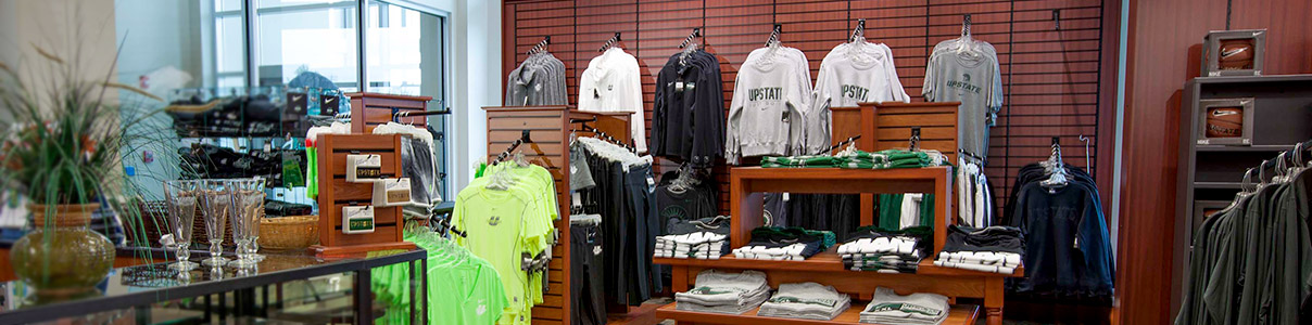 inside the USC Upstate bookstore